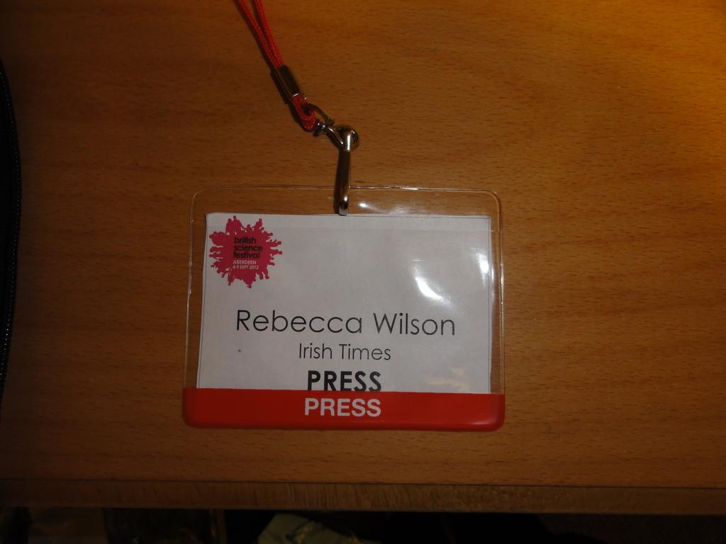 British Science Festival 2012 press pass