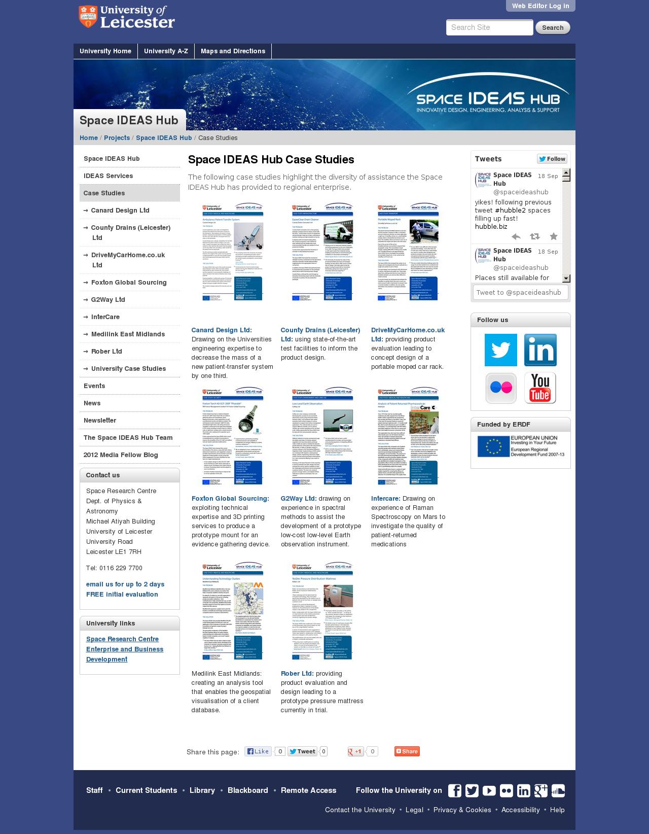Website: case studies page