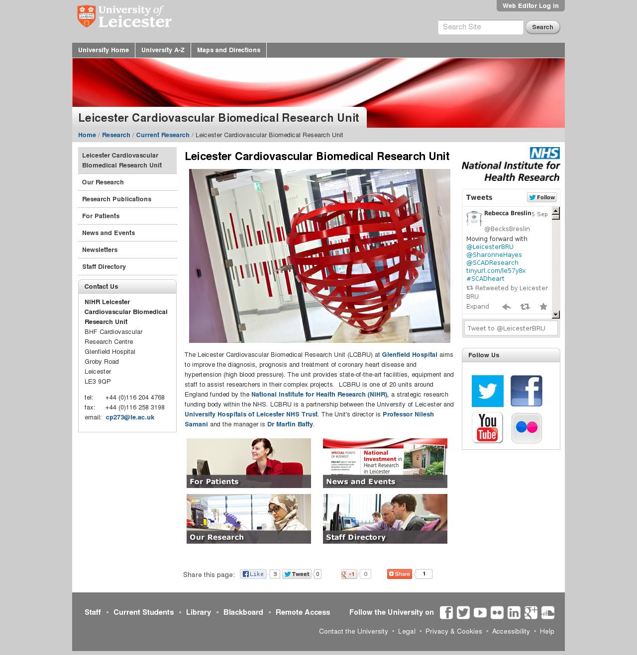 Website: homepage