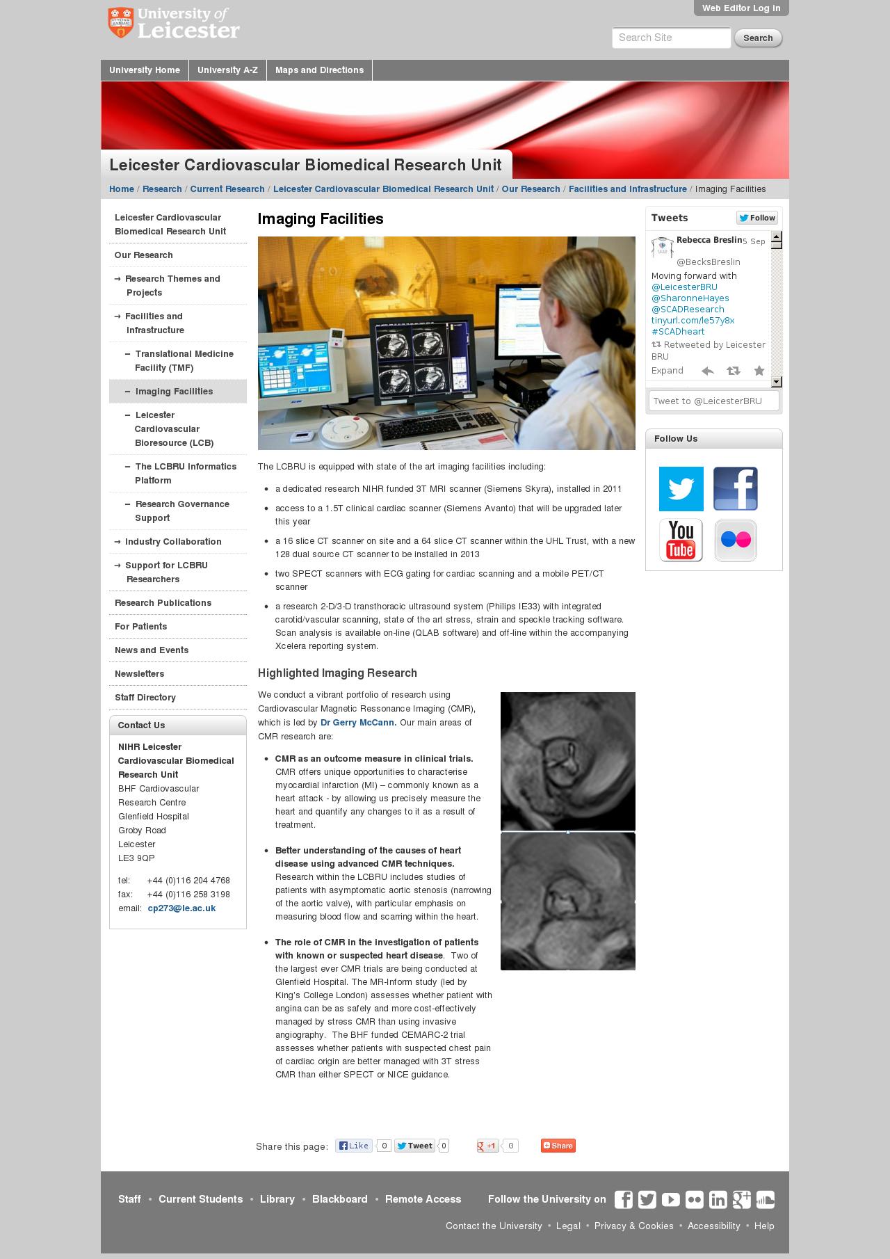 Website: facilities