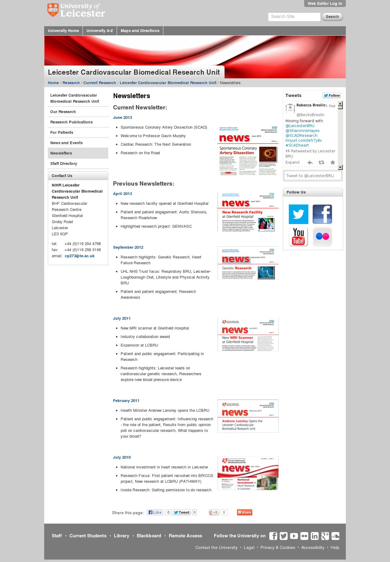 Website: Newsletters